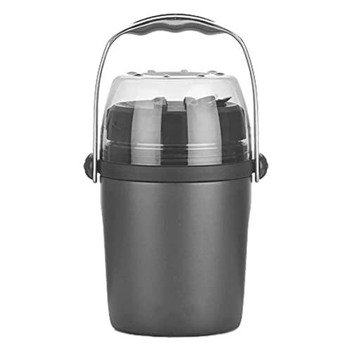 ZLQBHJ Scatola di pranzo termica for uso domestico portatile, può contenere la scatola di pranzo multi-strato isolante in acciaio inossidabile della zuppa piccola, for il lavoro di picnic del lavoro d