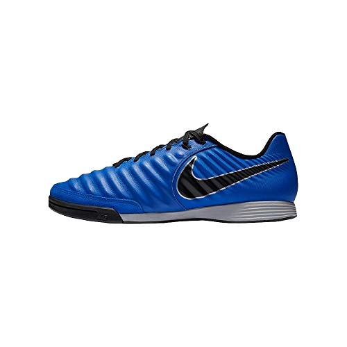 Nike Legend 7 Academy IC, Scarpe da Calcetto Indoor Unisex-Adulto, Multicolore (Racer Blue/Black/Metallic Silver 400), 42 EU