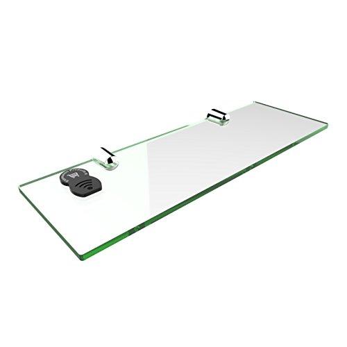 Mensola di sicurezza, dalle linee dritte, in acrilico, misure: 300 x 100 mm, per bagno, camera da letto, ufficio Glass Effect
