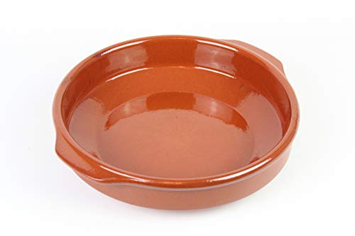 Casseruola rotonda in terracotta con manici, 32 cm