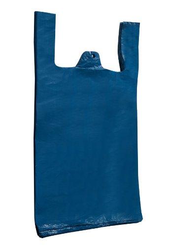 1000 x Vestzakken, gerecycled blauw vest draagtassen 12 X 18 X 24
