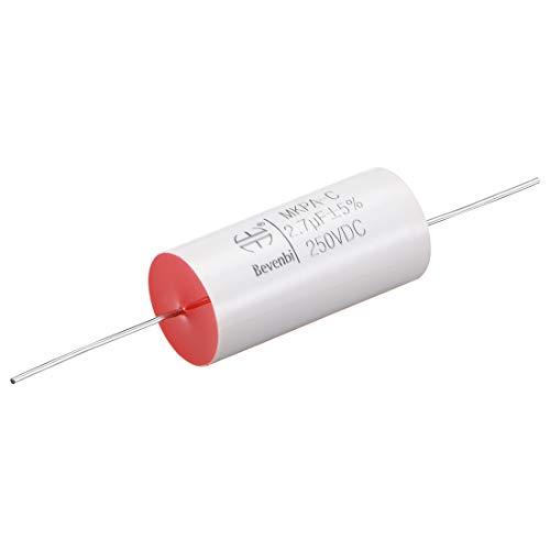 sourcing map Film Capacitor Rotonda assiale condensatori in Polipropilene per Audio divisore