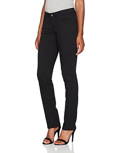 Mavi Olivia Damen Straight Jeans ,Schwarz (Double Black Str 23746),W28/L32
