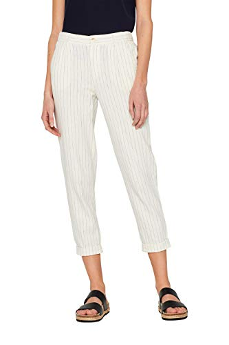 Esprit 059ee1b011 Pantalon, Blanc (Off White 110), W36/L28 (Taille Fabricant: 36/28) Femme