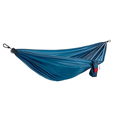 Grand Trunk Ultralight Camping Hammock - Lightweight and Portable Travel Hammock for Camping, Hiking, Backpacking, Beach, and Other Travel, Blue