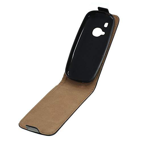 Mobilfunk Krause - Flexi Hülle Etui Handytasche Tasche Hülle für Nokia 3310 (2017) (Schwarz)