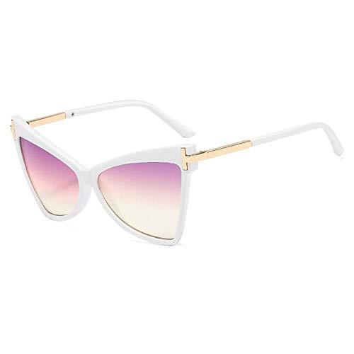 ZZOW Gafas De Sol Retro De Gran Tamaño con Ojo De Gato para Mujer, Gafas De Sol De Diseñador De Marca para Mujer, Gafas De Sol para Exteriores, Gafas Uv400