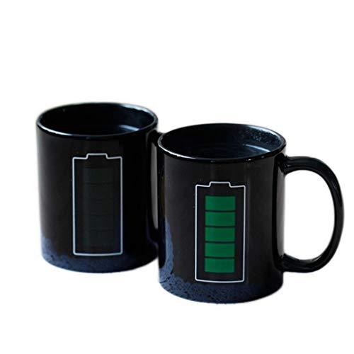 YIFEID Tazas De La Batería Maga Mage Positive Energy Color Cumple Copa Cerámica Decoloración Café Tazas De Té Tazas