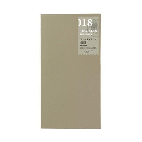 Midori Travelers Notebook refill (018) Diary Weekly