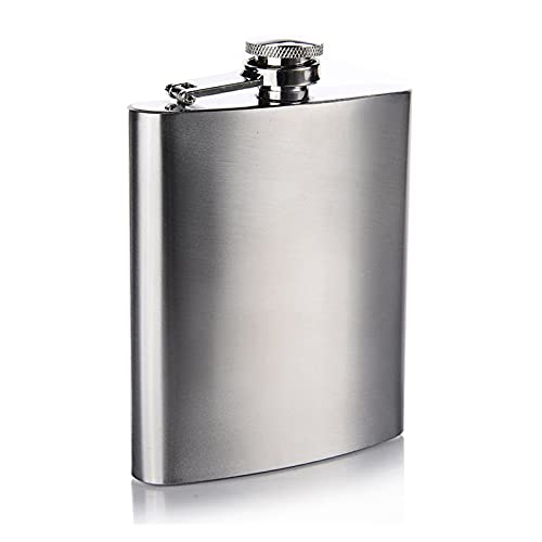 BOJSQ Frasco Mini matraz de Cadera Whisky matraz portátil Metal Alcohol matraz Hombres al Aire Libre Bolsillo Botella de Vino pequeño Mini matraz Más Duro (Size : 7oz(Stainless Steel))