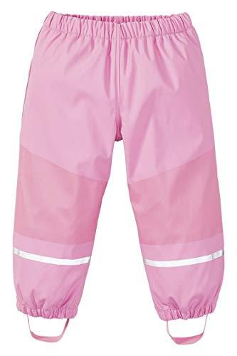 Crivit lupilu Kinder Regenhose gefüttert mit warmem Fleece Matschhose Buddelhose Mädchen Jungen (122/128, rosa)