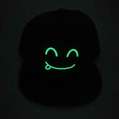 WYTX Leuchtende Wohnung Entlang Baseballkappe Hip-Hop Lustige Hip-Hop Fluoreszierende Kappe Glühender Hut, 11Sport Sonnenschutzhut Leichte Atmungsaktive Freizeitmütze