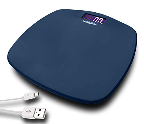 Healthgenie Digital Personal Weighing scale for body weight with USB charging,(Royal Blue)