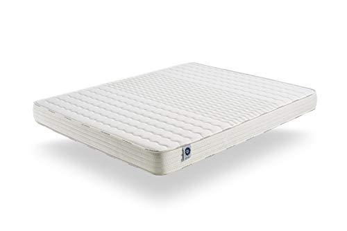 naturalex Matelas 140x190 cm Soft Sensation | Mousse Aero Latex Bi Densité | Mémoire De Forme Thermosoft | 7 Zones De Confort | Hypoallergénique