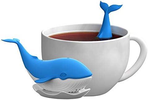 Caalio Tea Infuser Whale Shape Silicone Loose Leaf Tea Infusers Tea Strainer Steeper Hot Tea product image