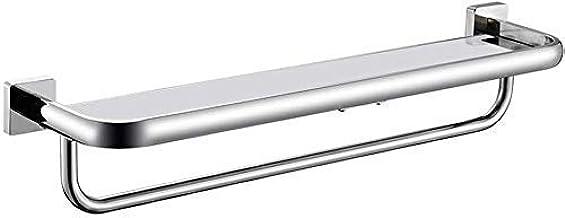 Yxsd 304 RVS Vierkante Glas Zeepplank voor Badkamer Toilet Zeep Doos Zeephouder 2 Kleuren glas (Maat: 83cm/32.6inch)