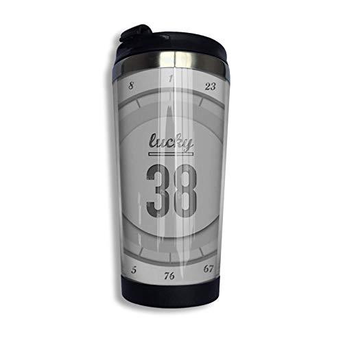 Hdadwy Lucky 38 Platinum Chip Taza de viaje Taza de café Vaso aislado al vacío de acero inoxidable 13.5 oz