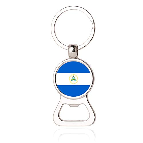 Schlüsselanhänger mit Flaschenöffner, Motiv: Nationalflagge Nicaragua, kreatives Souvenir, Geschenk, Schlüsselanhänger, Zubehör