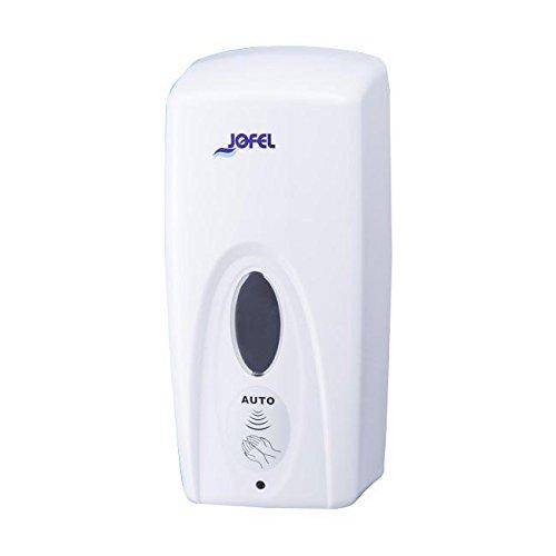 Jofel AC91050 Dosificador de Jabón Azur Óptico, Rellenable, Blanco, 1 L, Blanco