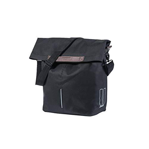 Basil City Shopper, schwarz, 16 Liter/Maße (LxBxH): 30 x 18 x 49 cm