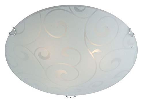 LED plafondlamp 3 spots plafondlamp slaapkamer glas gesatineerd (plafondspot, woonkamerlamp, rond, 40 cm, 3 x 9 Watt)