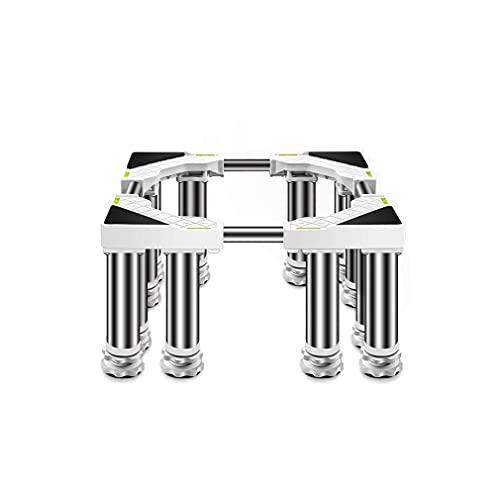 Hochleistungs-Waschmaschinen-Tablett-Unterteil mit 12 Beinen Trockner und Kühlschrankständer Sockel Verstellbare Länge/Breite 45-65 cm Kühlschrank-Gefrierschrank-Gestell Geschirrspüler Sockel Anti-V