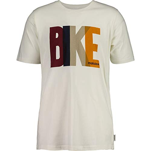 Maloja M Praluongm. T-Shirt Weiß, Herren Kurzarm-Shirt, Größe XL - Farbe Vintage White Bike