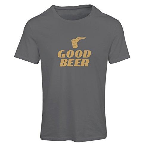 lepni.me Frauen T-Shirt Ich Brauche EIN gutes Bier, Geschenk für Bierliebhaber Partykleidung (XX-Large Graphit Gold)
