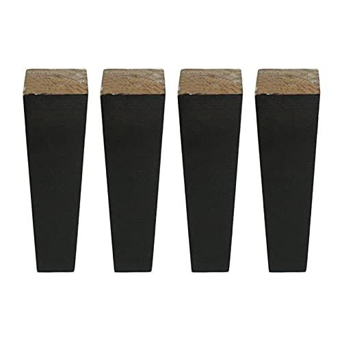 SHOP YJX 4 piezas tazas de muebles 6 x 20 x 3,8 cm patas de muebles muebles de madera pies de gabinete mesa pies con junta de hierro tornillos accesorios para el hogar
