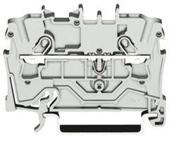 Preisvergleich Produktbild WAGO 2004-1201 Durchgangsklemme 6.20 mm Zugfeder Belegung: L Grau 1 St.