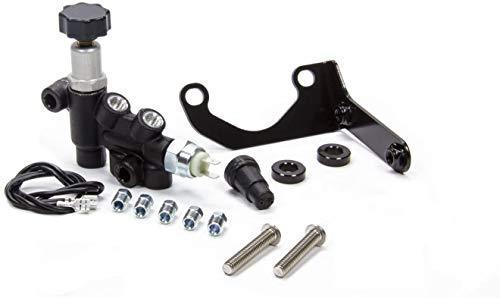 A-Team Performance Universal Combination Proportioning Valve and Complete Mounting Bracket Kit Wilwood Style with Adjustable Knob for Connecting PValve 260-13190 and Master Cylinder