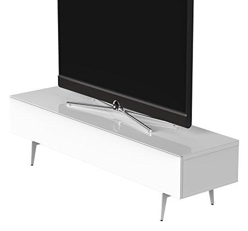 Sonorous STD 360F-WHT-WHT-SL Studio TV-Lowboard für 177,8 cm (70 Zoll) Fernseher weiß