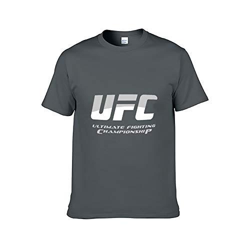 UFC 格闘 総合格闘技 王者 Tシャツ 半袖 丸い襟 綿100% アクティブシャツ カットソー 春夏秋 通気性吸汗速乾軽い 柔らか 男女兼用 XS~3XL