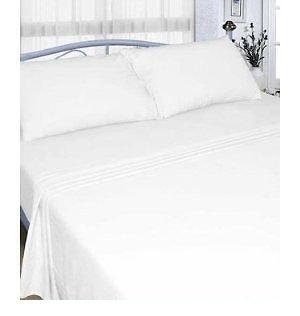 RAYYAN Sábana plana o fundas de almohada de lino 100% franela de algodón cepillado, de lujo, térmica, suave y acogedora, color blanco, tamaño King