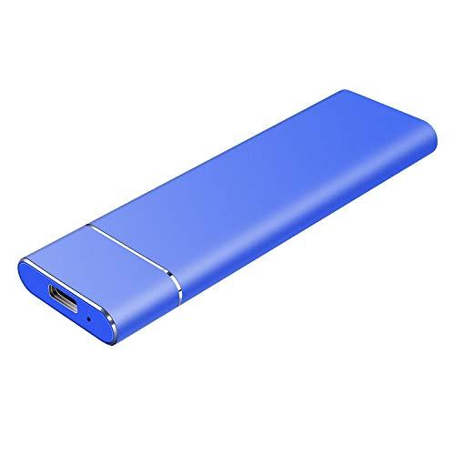 Disque Dur Externe 1to Type C USB3.1 Disque Dur Externe pour PC, Mac, Ordinateur de Bureaup, Ordinateur Portable, Wii U, Xbox(1to, Bleu)