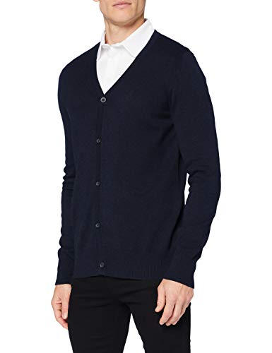 Eight2Nine Herren Basic Strickjacke Daunenweste, deep night blue, 48 (S)