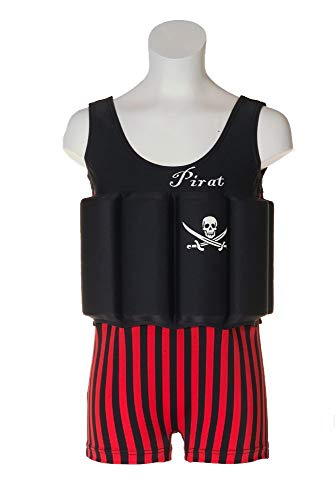 Beverly Kids Captain Jack Uv-body badpak, zwart, 116