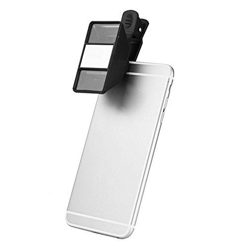 Richer-R Handy Objektiv, 3D Linse VR Telefon Kamera Lens Handy Linsen Objektiv,Tragbar Universal Externe Stereoskopisch Mini 3D Objektiv Makro Objektiv für Handy Tablet Schwarz
