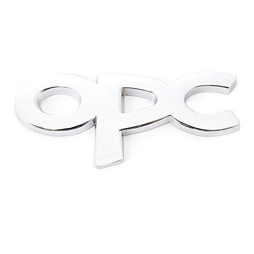 Puchi1 - Adhesivo para rejilla delantera para Opel OPC Line Astra h g j k f Zafira a b Corsa b c d Mokkav Insignia (nombre del color: blanco)
