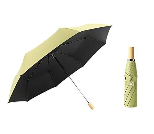 Damaioness Paraguas Resistente al Viento,Paraguas Automático Antiviento,Protector Solar Sombrilla, Lluvia o Paraguas Plegable para Lluvia-Green_8K