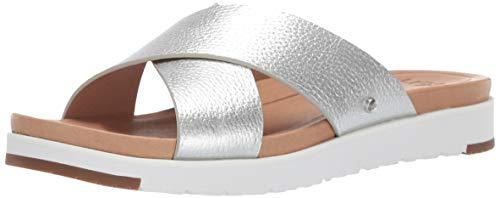UGG Damen Kari Metallic Sandale, Silver, 38 EU