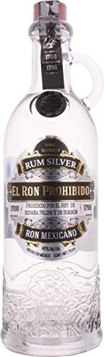 El Ron Prohibido Rum SILVER Ron Mexicano 40% - 700 ml