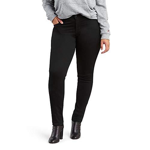 Levi's Women's Plus Size 711 Skinny Jean, Black Peony, 40 (US 20) M
