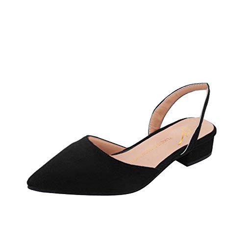 OSYARD Damen Slingpumps,Frauen Slingback Pumps, Knöchelriemchen Bequem Komfort Spitz Sandalen Slipper Sommerschuhe Sandaletten