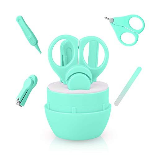 Babypflege 4 In 1 Set Baby Pflege Nagelpflege Nagelschere Nagelknipser Glasnagelfeile Und Nasenpinzette Nagelfeile