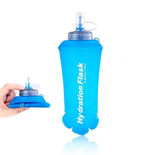 LIBRNTY Soft Flask Botella de Agua Flexible,Soft Flask 500ml,sin BPA, para Corredores,Running Soft Flask Botella,Botella de Agua Deportiva de | Soft Flask para Correr,Running (1pcs)