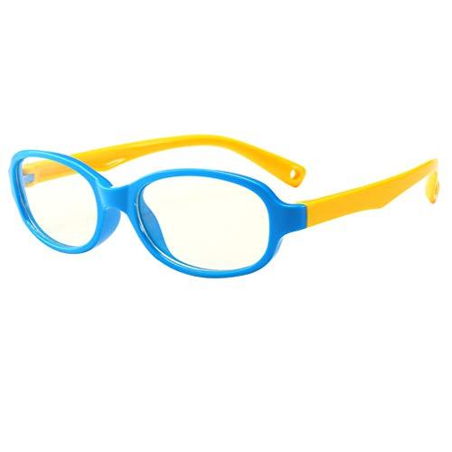KESYOO Kinder Schutzbrille Blaulichtfilter Brille Silikon Rahmen Anti-Staub Brille Outdoor Augenschutz Anti-Blaulicht Brille Bildschirmbrille für Mädchen Jungen