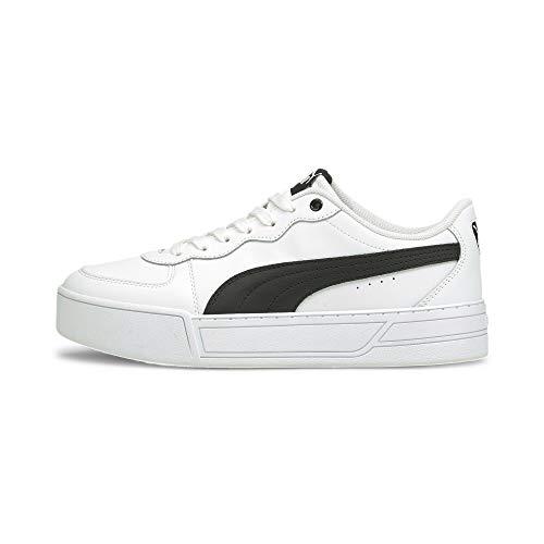 PUMA Skye, Zapatillas para Mujer, Blanco White Black, 39 EU