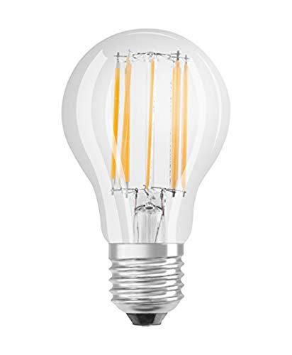 Osram LED Star Classic A Lampe, in Kolbenform mit E27-Sockel, nicht dimmbar, Ersetzt 100 Watt, Filamentstil Klar, Warmweiß - 2700 Kelvin, 1er-Pack