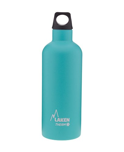 Laken Futura Botella Termica Acero Inoxidable 18/8 y Doble Pared de Vacio, Unisex adulto, Turquesa, 500 ml
